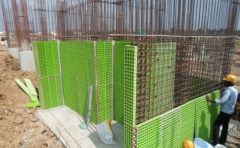 Plastic formworks for concrete construction