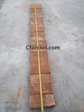Requirement of Burnt Clay Bricks
